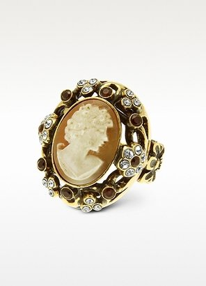 Alcozer & J Cameo and Crystal Ring