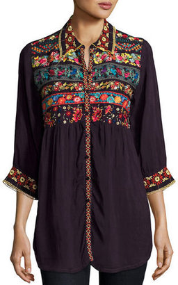 Johnny Was Artisan Embroidered Tunic $215 thestylecure.com