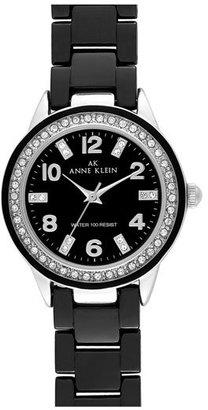 AK Anne Klein Anne Klein Crystal & Ceramic Watch