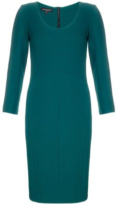 Narciso Rodriguez Teal Scoop Neck Dress