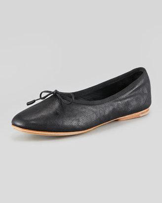 Rag and Bone Rag & Bone Windsor High-Rise Leather Ballet Flat, Black
