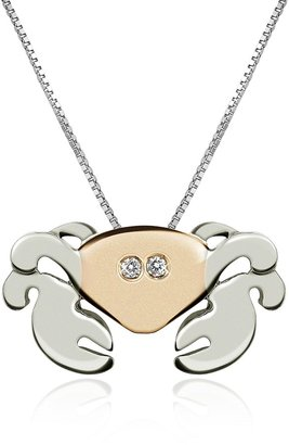 Forzieri Diamond 18K Gold Crab Pendant Necklace