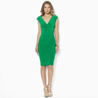 Ralph Lauren Cap-Sleeved Empire-Waist Dress