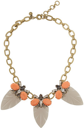 J.Crew Arrowhead gold-tone, crystal and cubic zirconia necklace