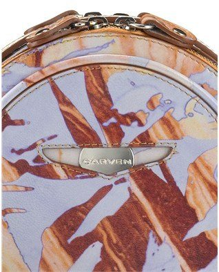 Carven Lilac Printed Leather Agathe Bag