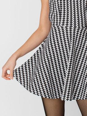 American Apparel Houndstooth Ponte Sleeveless Skater Dress