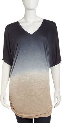 Young Fabulous & Broke Young Fabulous and Broke Ombre V-Neck Tee, Black