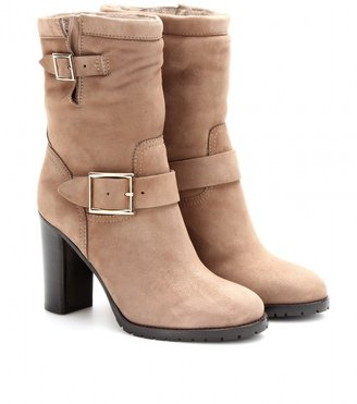 Jimmy Choo Dart shearling-lined suede boots