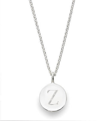Sarah Chloe Sterling Silver Engraved Z on 16 inch Cable Chain