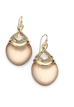 Alexis Bittar Lucite & Crystal Shield Drop Earrings