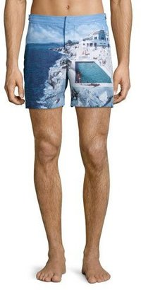 Orlebar Brown Bulldog Eden Roc Pool Print Swim Trunks, Multi $345 thestylecure.com
