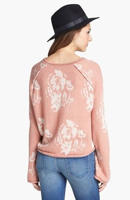 Love By Design Floral Boxy Sweater (Juniors)
