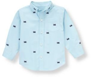 Janie and Jack Train Embroidered Shirt
