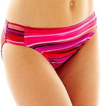 Maidenform Spectrum Pink Shirred-Side Hipster Swim Bottoms