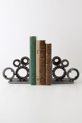 Anthropologie Industrial Gear Bookends