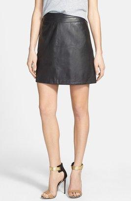 Halogen Leather A-Line Skirt (Regular & Petite)