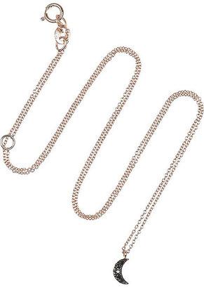 Diane Kordas Moon 18-karat rose gold diamond necklace
