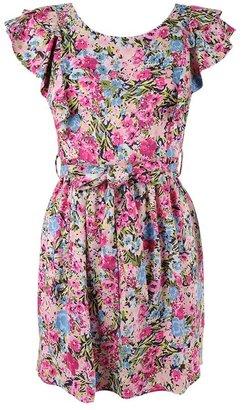 Forever 21 Flutter Capsleeve Floral Dress