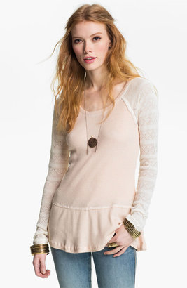 Free People Thermal Peplum Top