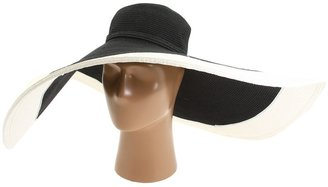 San Diego Hat Company Ultra Braid XL Contrast Brim (Black/White) - Hats