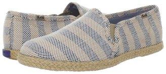Keds Twin Gore Jute Stripe (Black Woven) - Footwear