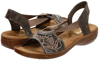 Rieker 608B9 Regina B9 (Smoke) Women's Sandals