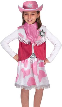Melissa & Doug Cowgirl Role Play Costume