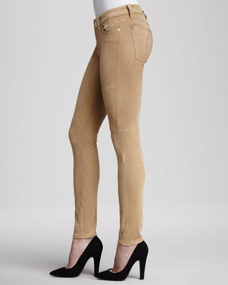 7 For All Mankind The Sueded Skinny Jeans, Sueded Camel
