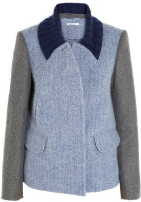 Carven Color-block wool and angora-blend jacket