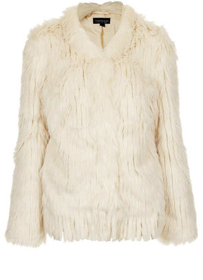 Topshop Knitted Tassel Coat