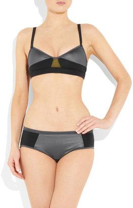 VPL Dazzling metallic bikini briefs
