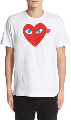 Comme des Garcons Heart Face Graphic Tee