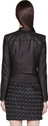 Helmut Lang Black Pebbled Leather Wither Jacket
