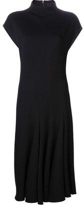 Lanvin cap sleeves flared dress