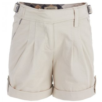 Burberry Beige Turn-Up Shorts