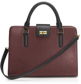 J.Crew Edie attaché bag in two tone