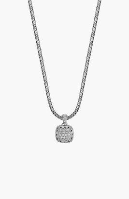 John Hardy 'Classic Chain' Pave Diamond Pendant Necklace