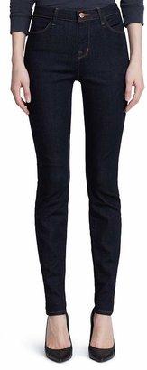 J Brand Maria High-Rise Skinny Jeans in Afterdark