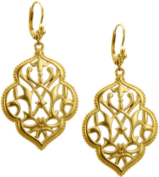 T Tahari Earrings, Gold-Tone Filigree Drop Earrings
