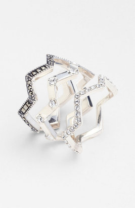 Judith Jack 'Caged In' Stackable Rings (Set of 3)