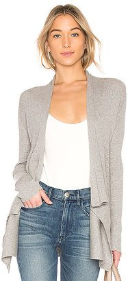 Autumn Cashmere Ribbed Drape Cardigan