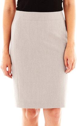 JCPenney Worthington Modern Seamed Pencil Skirt - Petite