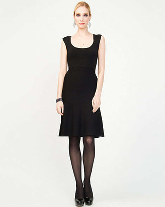 Le Château Banded Knit Fit And Flare Dress