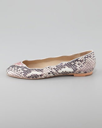 Juicy Couture Jailyn Hologram Snake-Print Ballet Flat