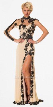 eDressMe Nika Sheer Illusion Evening Dresses