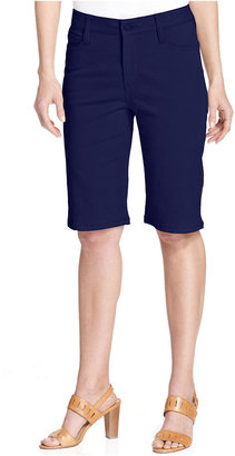 Jones New York Signature Petites Petite Shorts, Denim Bermuda Colored