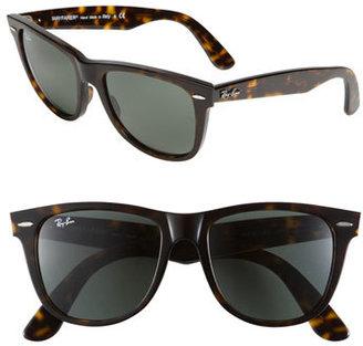 Women's Ray-Ban Large Classic Wayfarer 54Mm Sunglasses - Dark Tortoise $150 thestylecure.com
