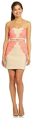 Teeze Me Millennium Neon Lace Dress