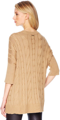 Michael Kors Long Cable-Knit Sweater