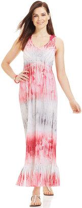 Style&Co. Petite Sublimated-Print Maxi Dress